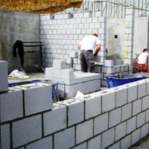 Монтаж блоков из пенобетона
